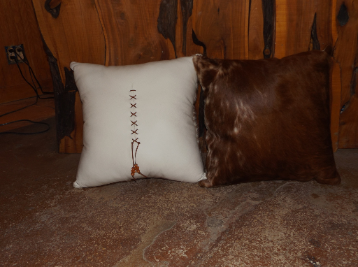 White & Brown Texas Longhorn Pillow